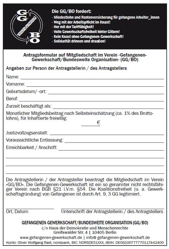 Mitgliedschaftsantrag